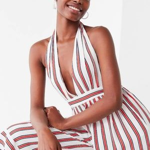 NWT Urban Outfitters Raven Striped Halter Romper